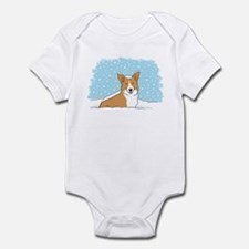 Happy Snow Corgi Infant Bodysuit
