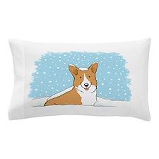 Happy Snow Corgi Pillow Case