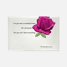 Unique Purple rose Rectangle Magnet