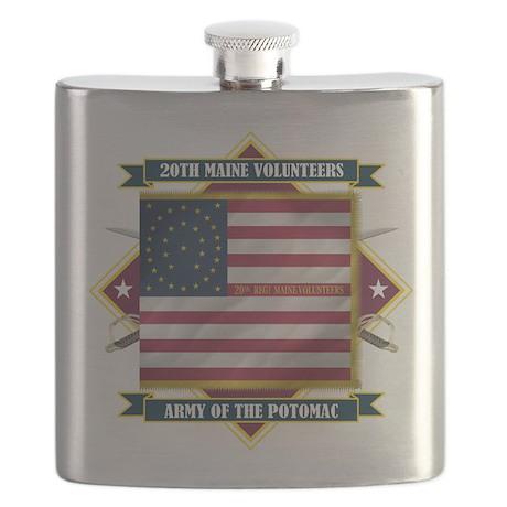 20th Maine (Diamond).png Flask