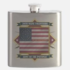 20th Maine (Diamond).png Flask