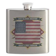 21st Illinois (Diamond).png Flask