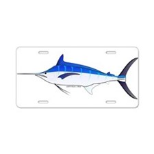 Blue Marlin fish Aluminum License Plate