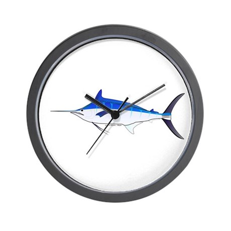 Blue marlin fish wall clock by combatfishingoffshorefish for Fish wall clock