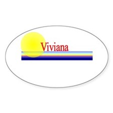 Viviana Oval Decal