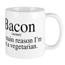 Bacon Black Small Mugs