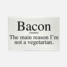 Bacon Black Rectangle Magnet