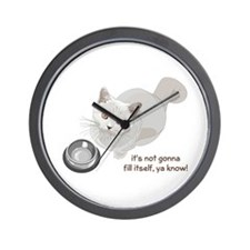 Feed Me Kitty Wall Clock