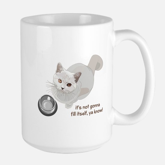 Feed Me Kitty Large Mug