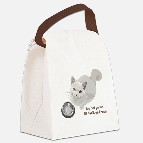 Feed Me Kitty Canvas Lunch Bag