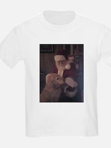 Santa with Hooper the Golden Retriever T-Shirt