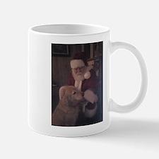 Santa with Hooper the Golden Retriever Mug