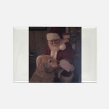 Santa with Hooper the Golden Retriever Rectangle M