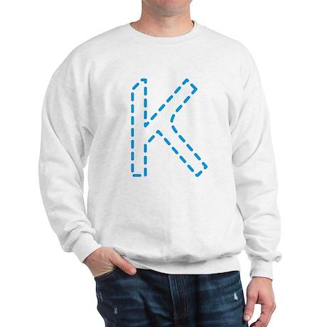 Letter K _ Cyan Sweatshirt
