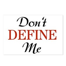 Don't Define Me Funny Postcards (Package of 8)