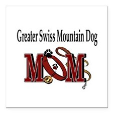 "Greater Swiss Mtn Dog Square Car Magnet 3"" x 3"""