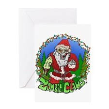 Zombie Claus Greeting Card