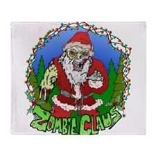 Zombie Claus Throw Blanket
