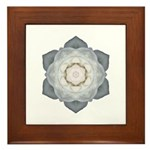 White Rose Framed Tile (white)