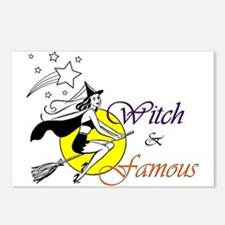 witch famous Postcards (Package of 8)