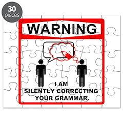 Warning: I am silently correcting your grammar. Pu