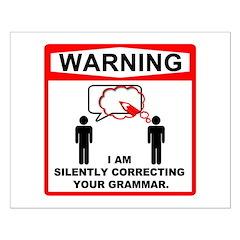 Warning: I am silently correcting your grammar. Sm