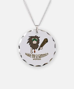 Caveman sammich Necklace Circle Charm