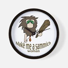 Caveman sammich Wall Clock