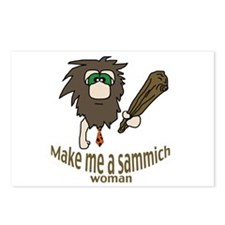 Caveman sammich Postcards (Package of 8)