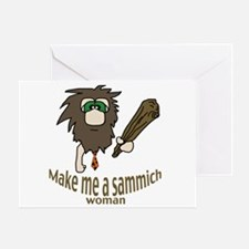 Caveman sammich Greeting Card