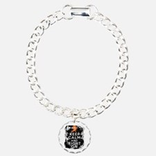 Multiple Sclerosis Keep Calm and Fight On Bracelet