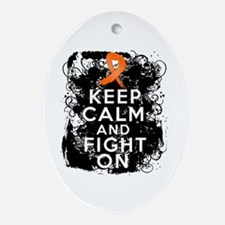 Multiple Sclerosis Keep Calm and Fight On Ornament