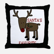 Santas Favorite Throw Pillow