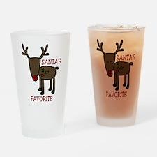Santas Favorite Drinking Glass