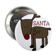 "Santas Favorite 2.25"" Button"