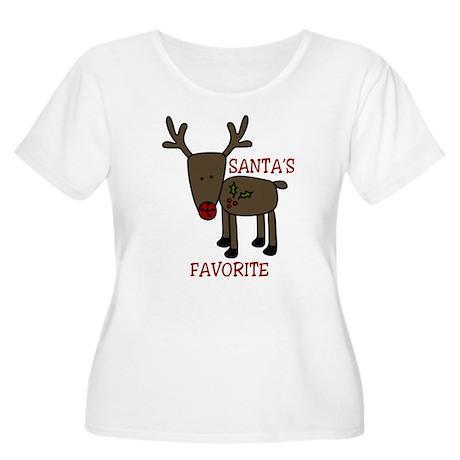 Santas Favorite Women's Plus Size Scoop Neck T-Shi