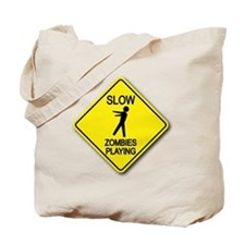 Slow... Zombies Playing Tote Bag