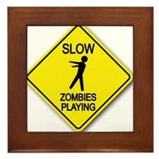 Slow... Zombies Playing Framed Tile