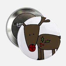 """Standing Reindeer 2.25"""" Button"""