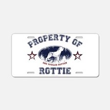 Rottie Aluminum License Plate