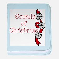 Sounds Of Christmas baby blanket