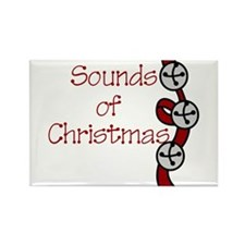 Sounds Of Christmas Rectangle Magnet