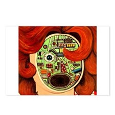 Female Robot Postcards (Package of 8)