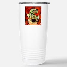 Female Robot Travel Mug