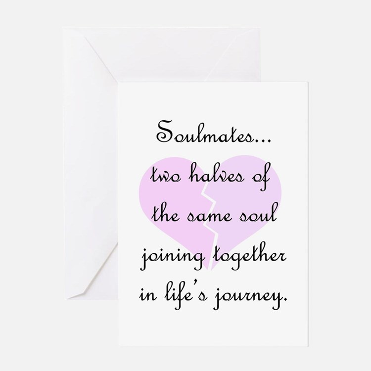 Soulmates (faded heart design) Greeting Card