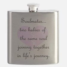 Soulmates (faded heart design) Flask