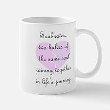 Soulmates (faded heart design) Mug