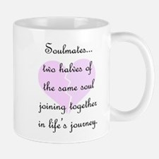 Soulmates (faded heart design) Small Mugs