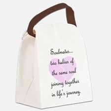 Soulmates (faded heart design) Canvas Lunch Bag
