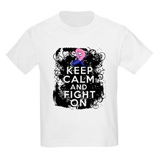 Male Breast Cancer Keep Calm and Fight On T-Shirt